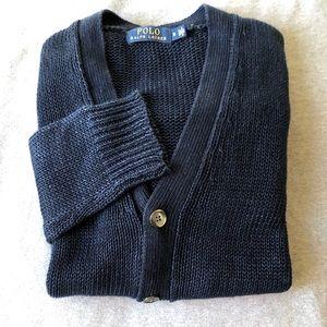 Polo Navy Linen Cardigan